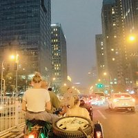 beijing evening city sidecar