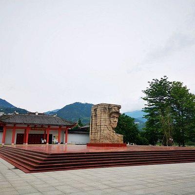 纪念馆外面的广场