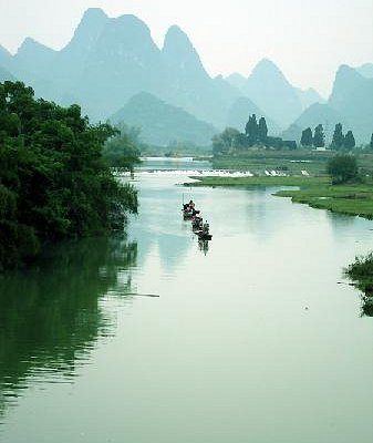 竹筏漂流遇龙河