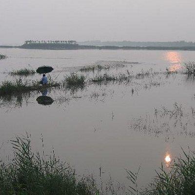 日落湖边3-钓