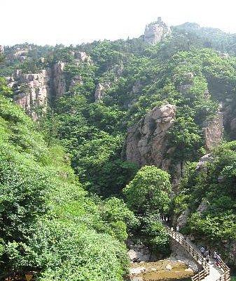 因山势而建的竹桥,和景区融为一体,时刻让我们体会着绿色旅游