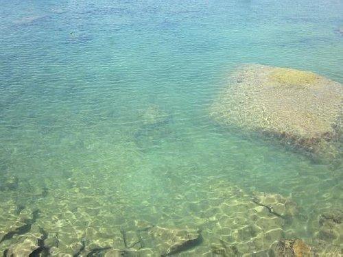 海水清澈,五光十色。