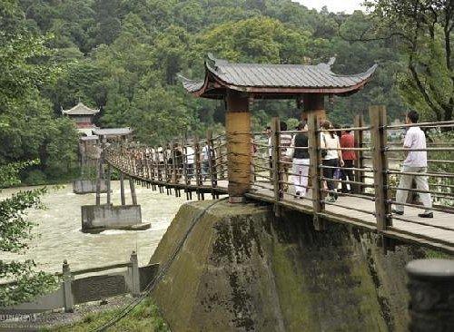 都江堰的吊桥