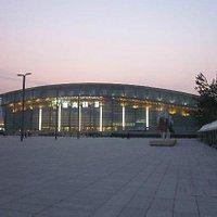 华灯初上的国家体育馆