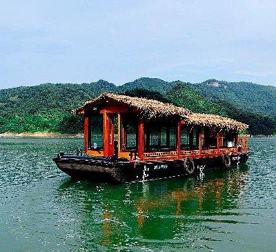 大别山主峰-别山湖-游船