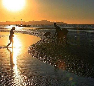 黄昏的海边