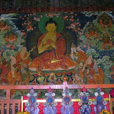 庙里的佛像壁画