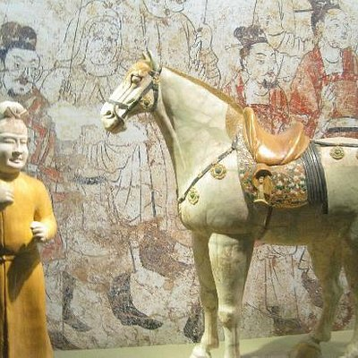 唐三彩的马