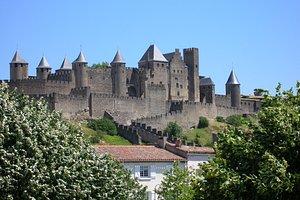 View of Carcassonne castle