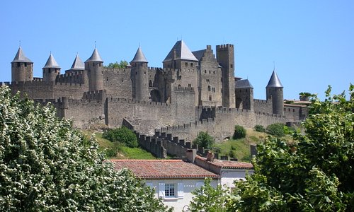 View of Carcassonne castle