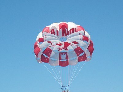 Sky King parasailing - in the air