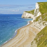 limestone cliffs on a sunny day