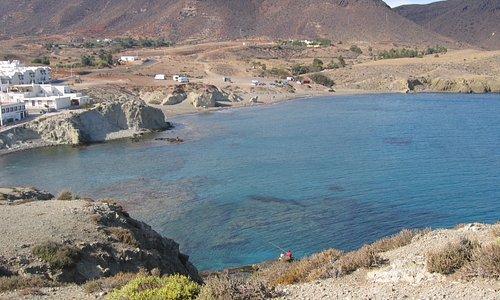 Blick auf die Bucht von Isleta del Moro
