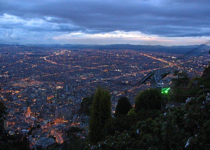 Twilight view over Bogota from Monserrate