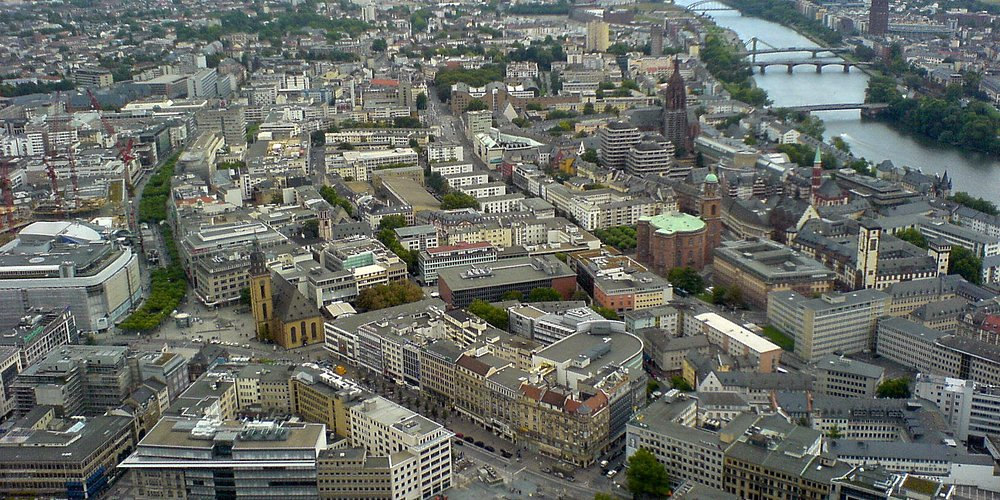 View from Maintower - Hauptwache to Römer