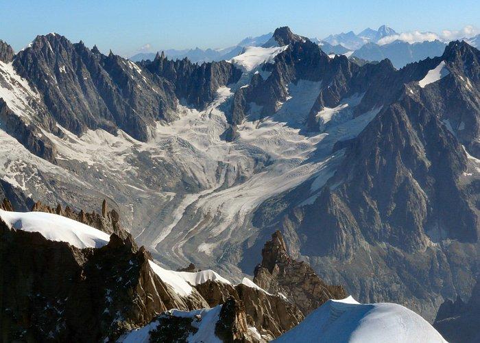 Mont Blanc Massif from Aigulle du Midi