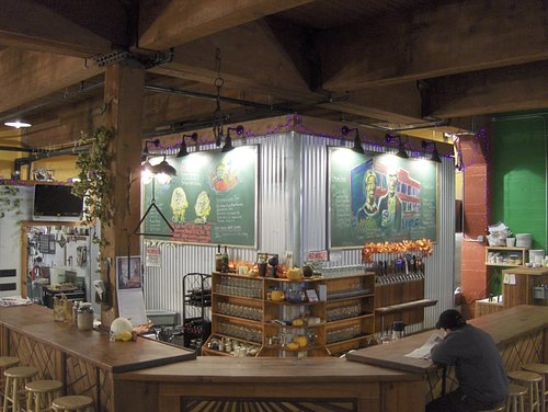 Fort George Brewery Recycled Old Growth Doug Fir Bar