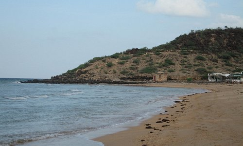 Secluded beach walk