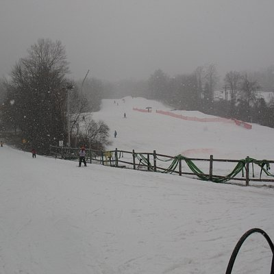 Overlooking the slopes