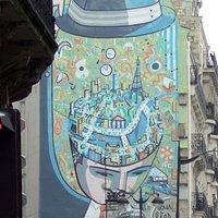Vous êtes ici mural, near Magenta metro, Paris