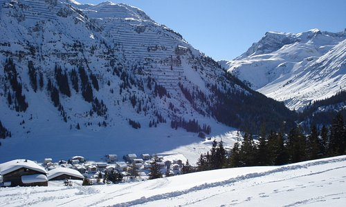 Lech - viewed from Pension sabine