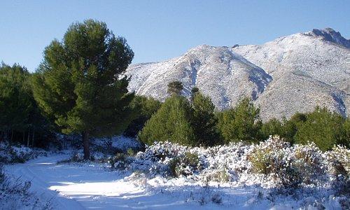 Calpe mountain countryside winter