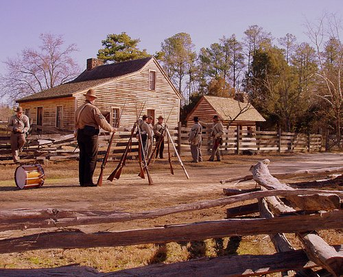 Confederate Soldiers on the Old Hillsborough Road