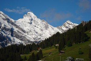 Murren with Alps