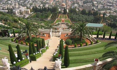 vue d'en haut de ces jardins