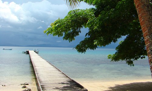 the pier at Jean Michel Cousteau Resort