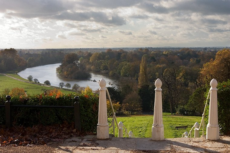 The wonderful view from the top of Richmond Hill