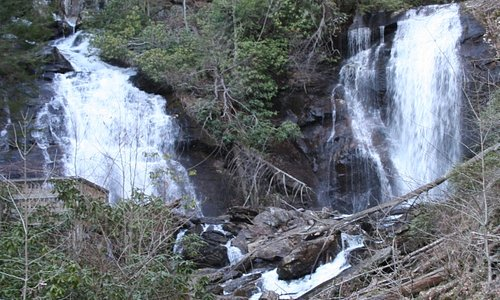 Anna Ruby Falls- North of Unicoi SP in the Chattahoochee NF