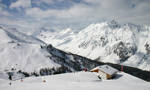 Quiet well groomed pistes