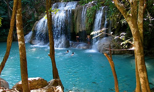 Erawan Falls, lower tier