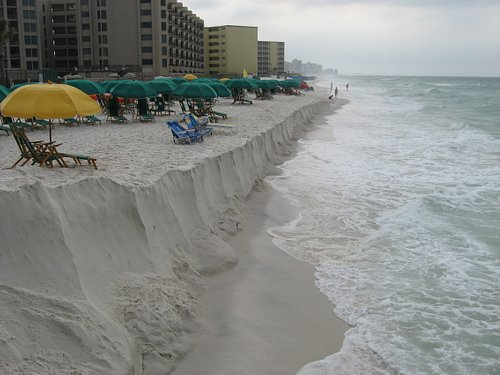 Restored beach in front of The Islander