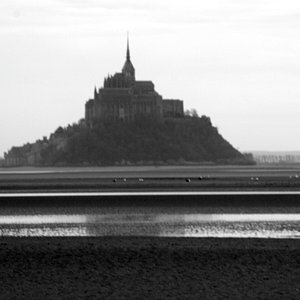 The view on the Mont saint Michel