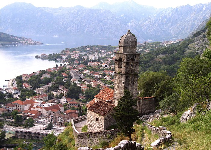 the view from about midway up the walls above Old Town, Kotor