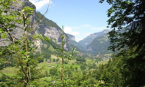 La vue sur Lauterbrunnen est imprenable!