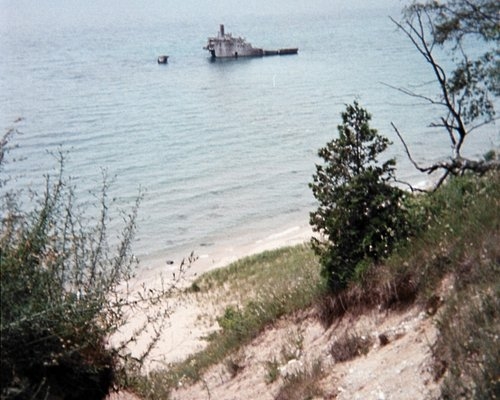 Shipwreck from 7 mile path in woods