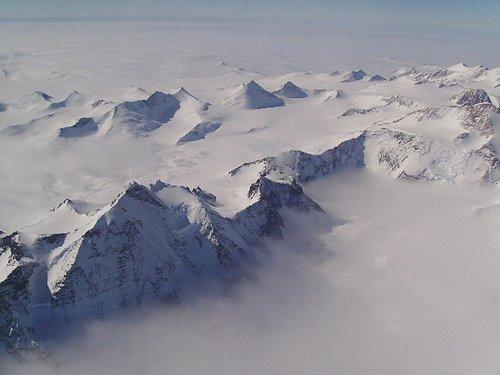 somewhere over antarctica