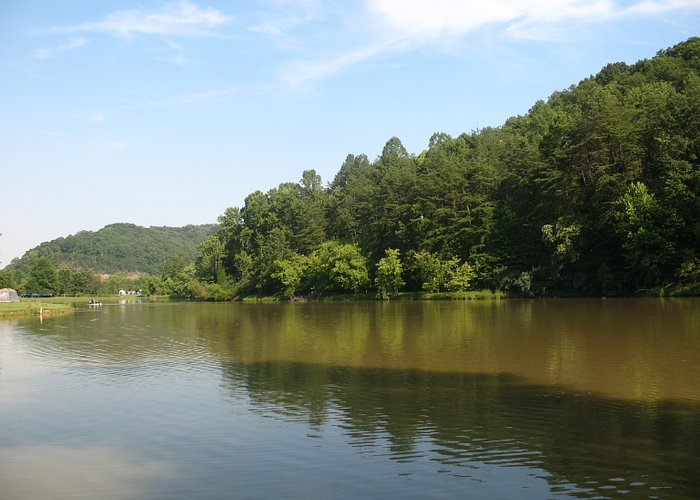 View of the lake from our site.