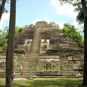 The tallest Mayan temple in Lamanai