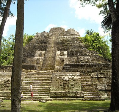 The tallest Mayan temple in Lamanai
