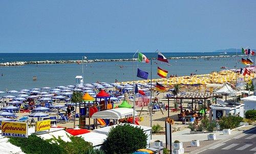 la plage direction Rimini