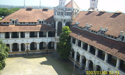 corner lawang sewu from tower