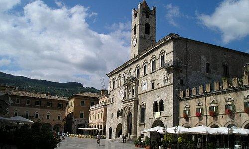 Piazza del Popolo view of Palazzo Capitani
