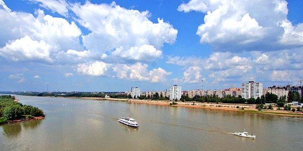 Rio pasa por medio Omsk