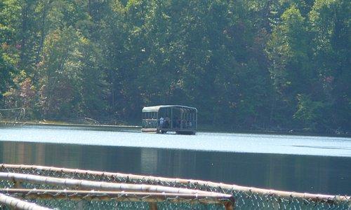 Barge on the lake at Bays Mountain