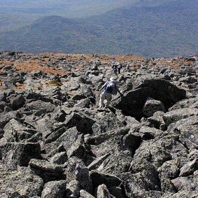 Lots of jagged rocks