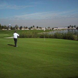 The green on hole 18